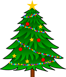 255x297 Christmas Tree Clip Art With Lights Clipart Panda