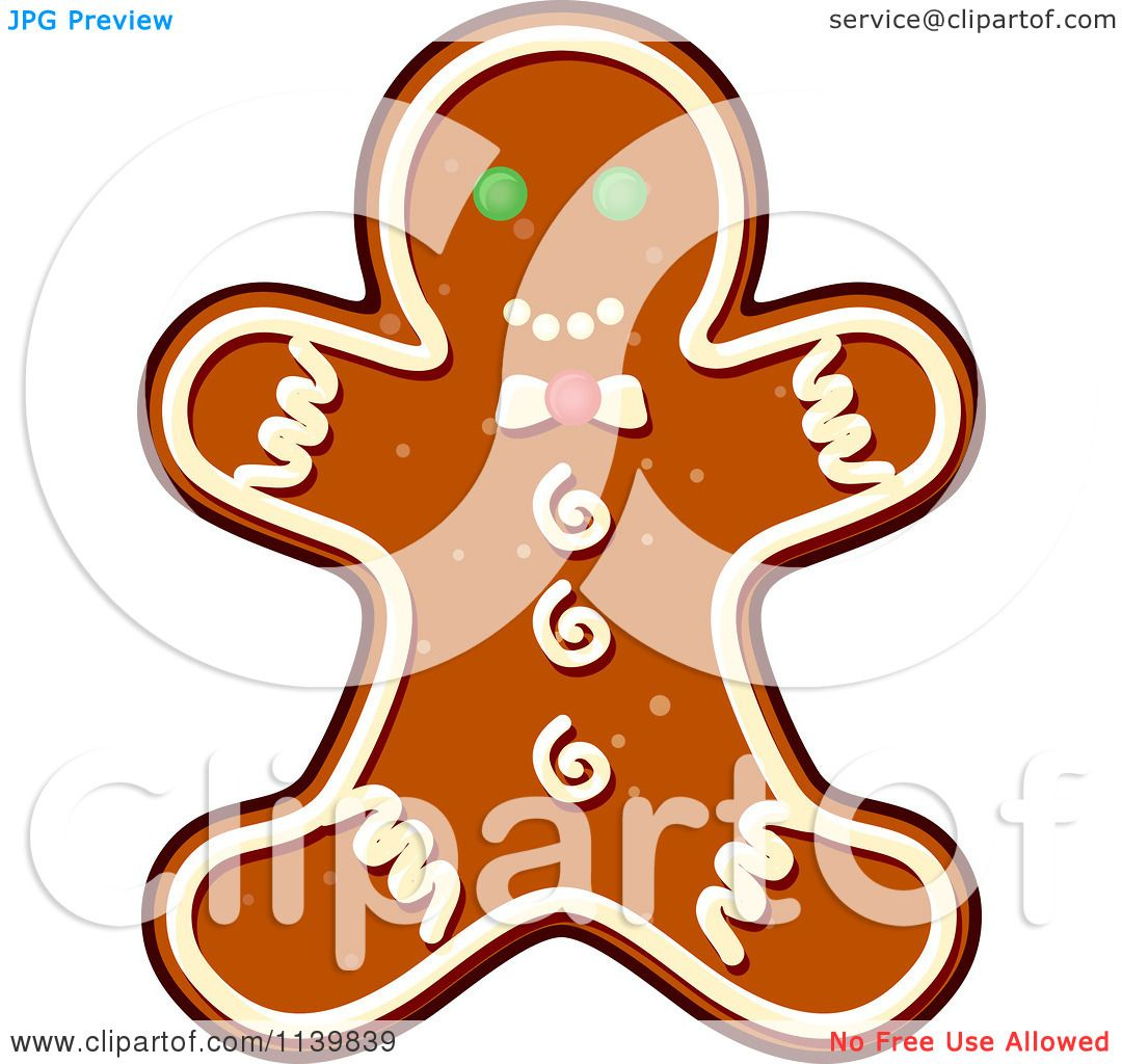 1080x1024 Clipart Of A Gingerbread Man Christmas Cookie