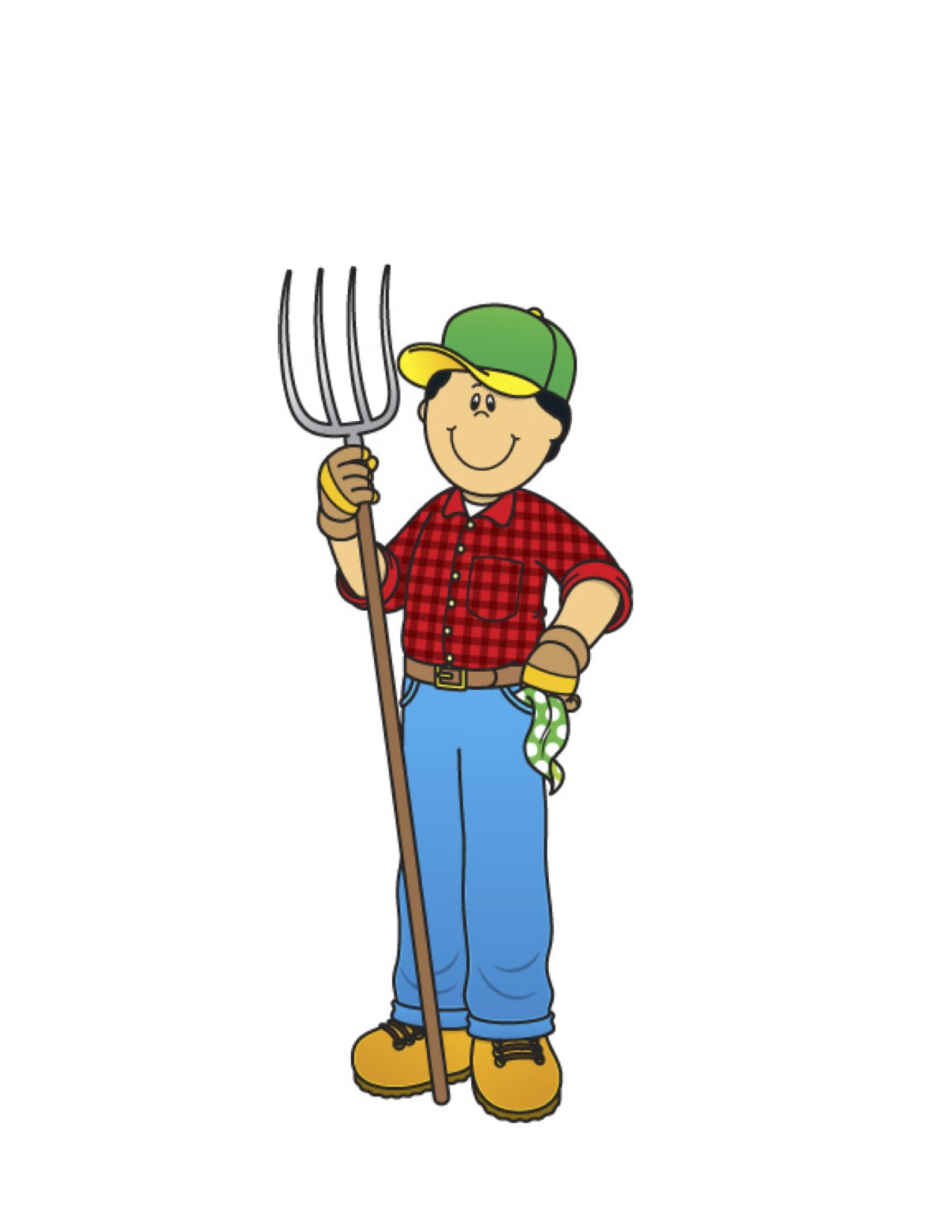 1275x1650 Farm Worker Clipart Black And White