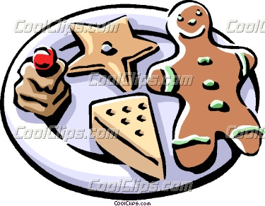 375x291 Plate Of Christmas Cookie Clip Art Clipart Panda