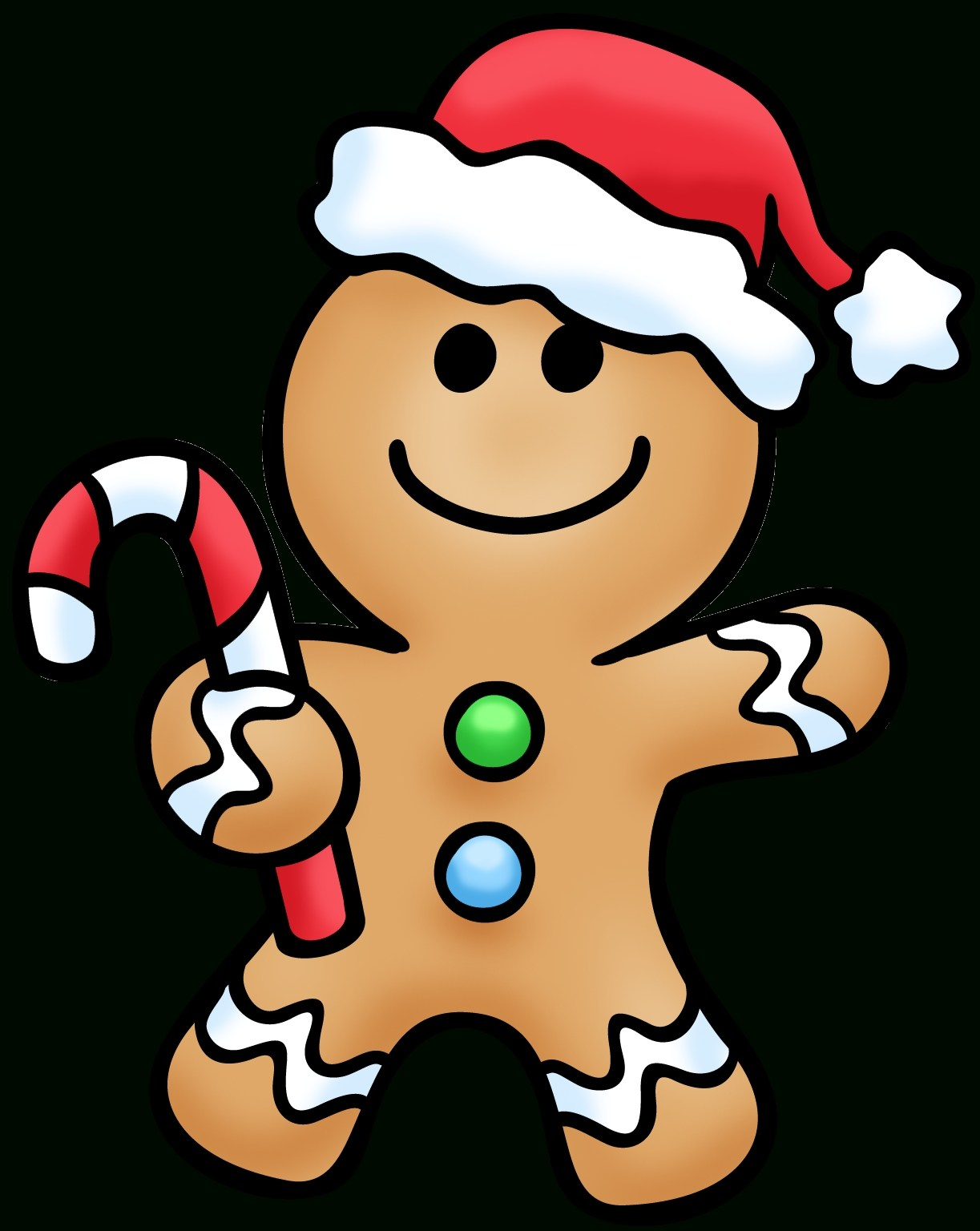 1223x1536 Cartoon Christmas Gingerbread Man Simple Living Tree In