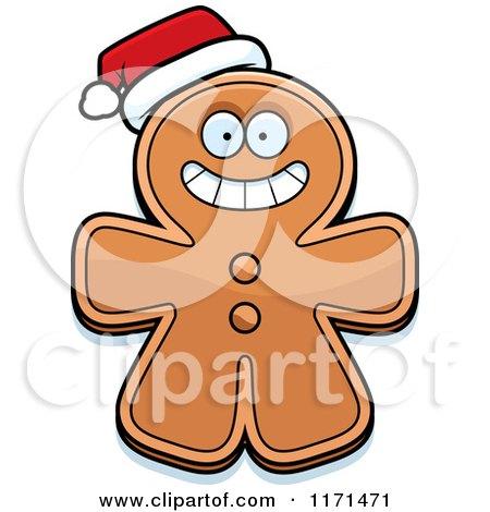 450x470 Cartoon Of A Dreaming Gingerbread Man Mascot
