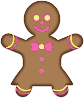 340x397 Christmas Gingerbread Girl Clipart