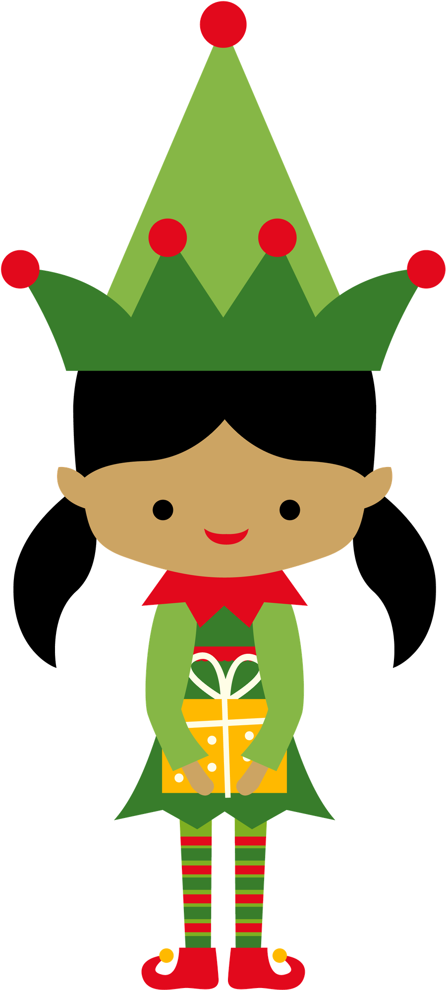 900x1997 Christmas Girl Elf Clip Art Clip Art