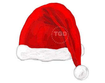 340x270 Santa Clipart. Christmas Clipart. Watercolor Christmas.