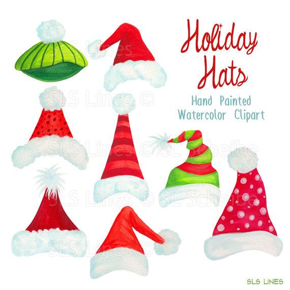 570x570 Santa Hat Clipart Christmas Holiday Hats Graphics