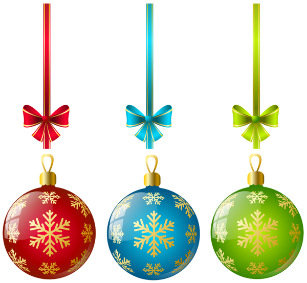600x554 Large Transparent Three Christmas Ball Ornaments Clipart
