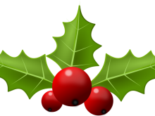 220x165 Picture Of Christmas Holly Clip Art Christmas Holly Clip Art