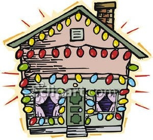 300x273 Christmas Lights On House Clip Art Free Design Templates