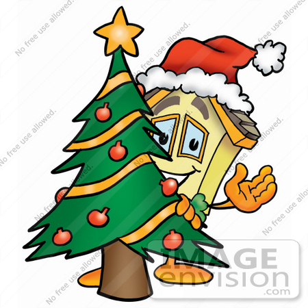 450x450 Clip Art Graphic Of A Yellow Residential House Cartoon Character