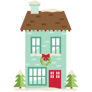 300x300 Christmas House Svg My Miss Kate Cuttables