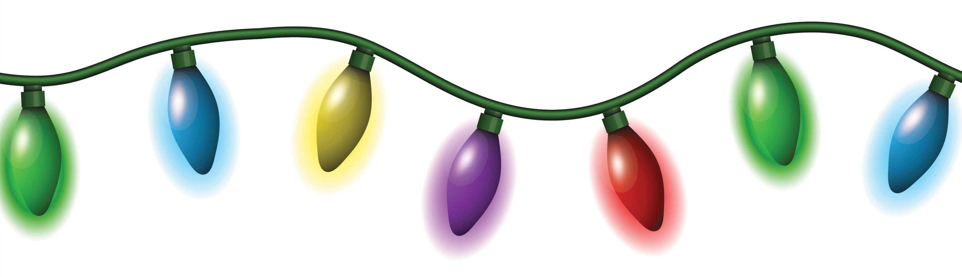 3082x888 Christmas Lights Clipart Christmas Lights Clipart