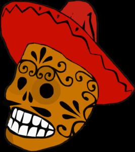 267x299 Mexican Skull Clip Art