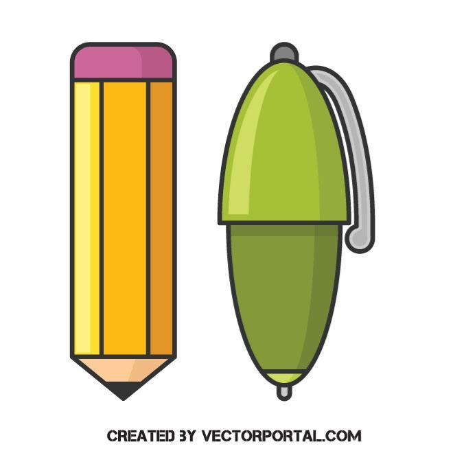 660x660 Pen And Pencil Vector Clip Art