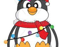 220x165 Christmas Penguin Clipart