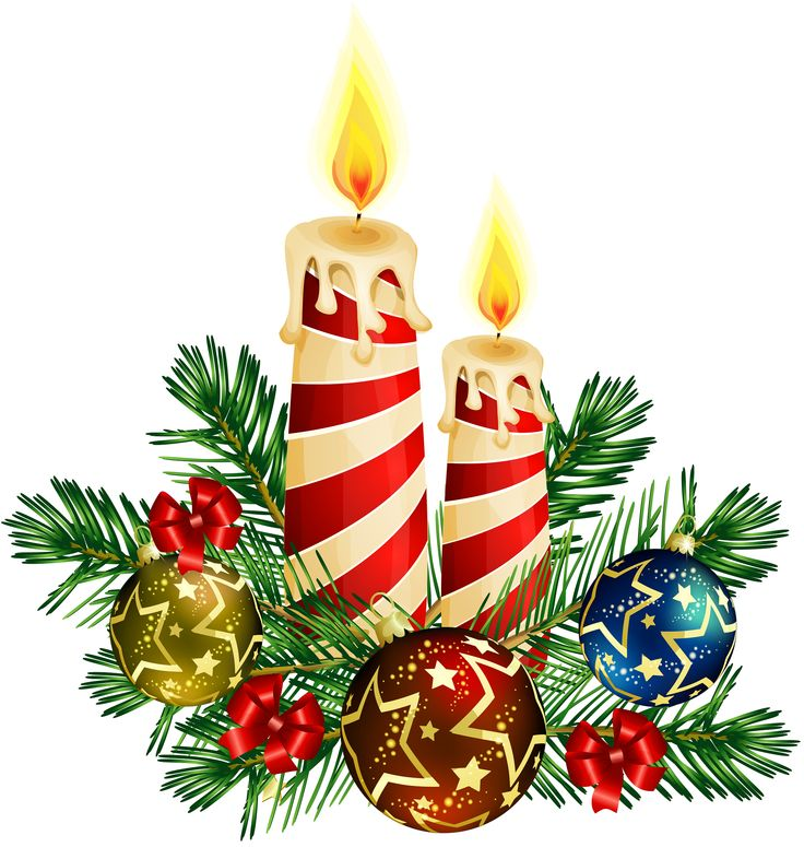 736x775 Merry Christmas Clipart Candle