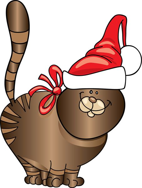 Christmas Kitty Clipart