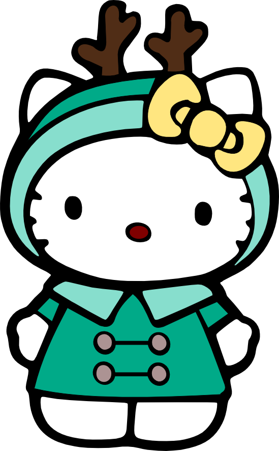 549x886 Christmas Hello Kitty Clip Art