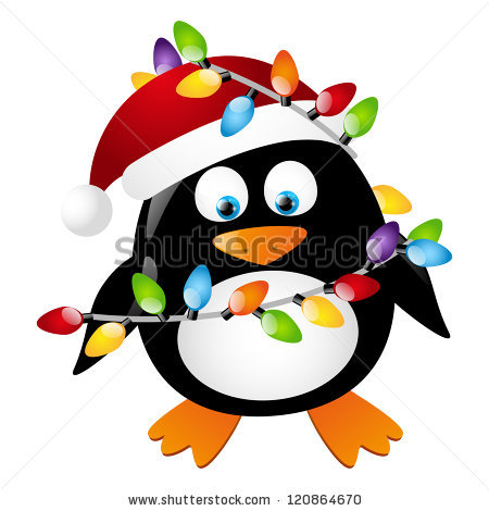 450x470 Free Penguin Christmas Tag Clipart Collection