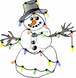 294x300 Collection Of Snowman Lights Clipart High Quality, Free