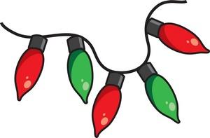 300x197 Free Christmas Lights Clip Art Clipart Panda