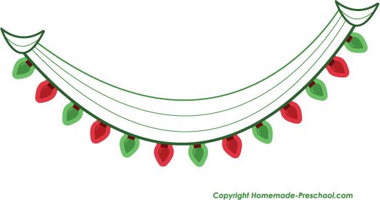 550x290 Stylish Inspiration Clipart Christmas Lights Scrapbook Clip Art