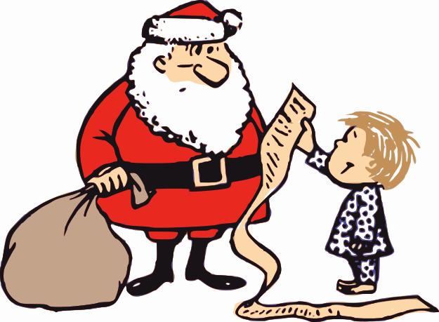 625x459 Christmas List Clip Art