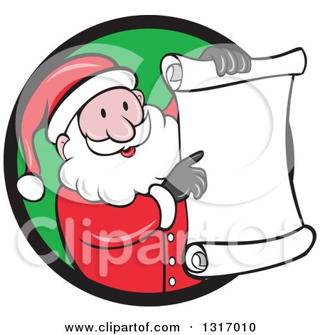 450x470 Clipart Of A Cartoon Happy White Santa Claus Holding And Pointing