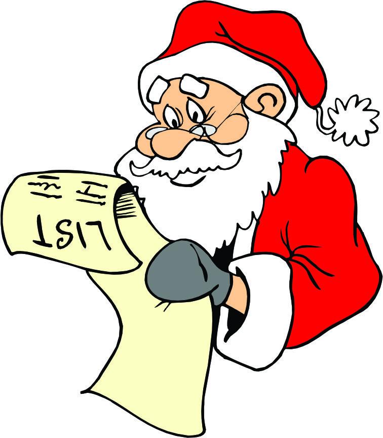 756x864 Santas Nice List Clipart