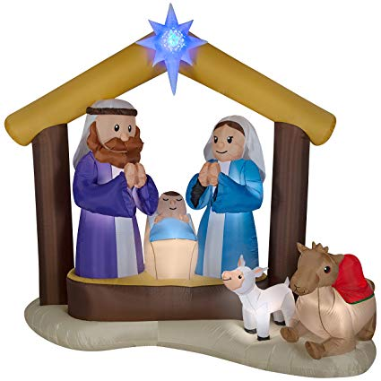 425x425 Lightshow Airblown Inflatable Kaleidoscope Nativity