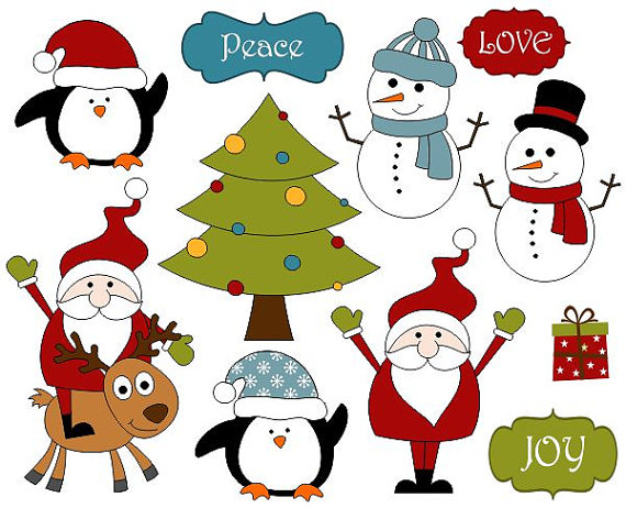 570x462 Cute Christmas Decoration Clip Art, Xmas Scrapbook Clipart