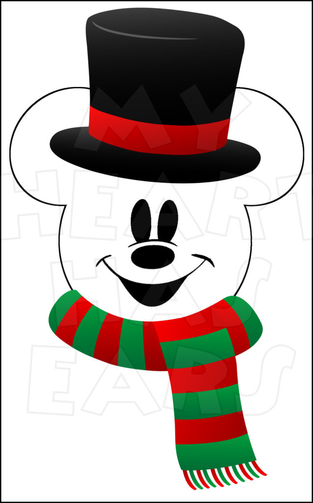 638x1024 Snowman Mickey Mouse With Instant Download Christmas Digital Clip