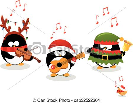 450x349 Christmas Music Clipart Cute Little Penguins Playing Christmas