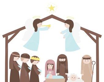 340x270 Nativity Clipart Etsy