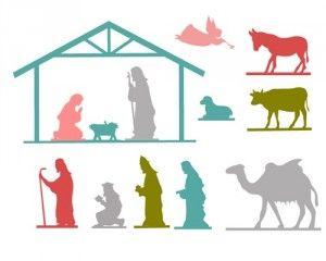 300x240 Free Printable Nativity Images Christmas Template
