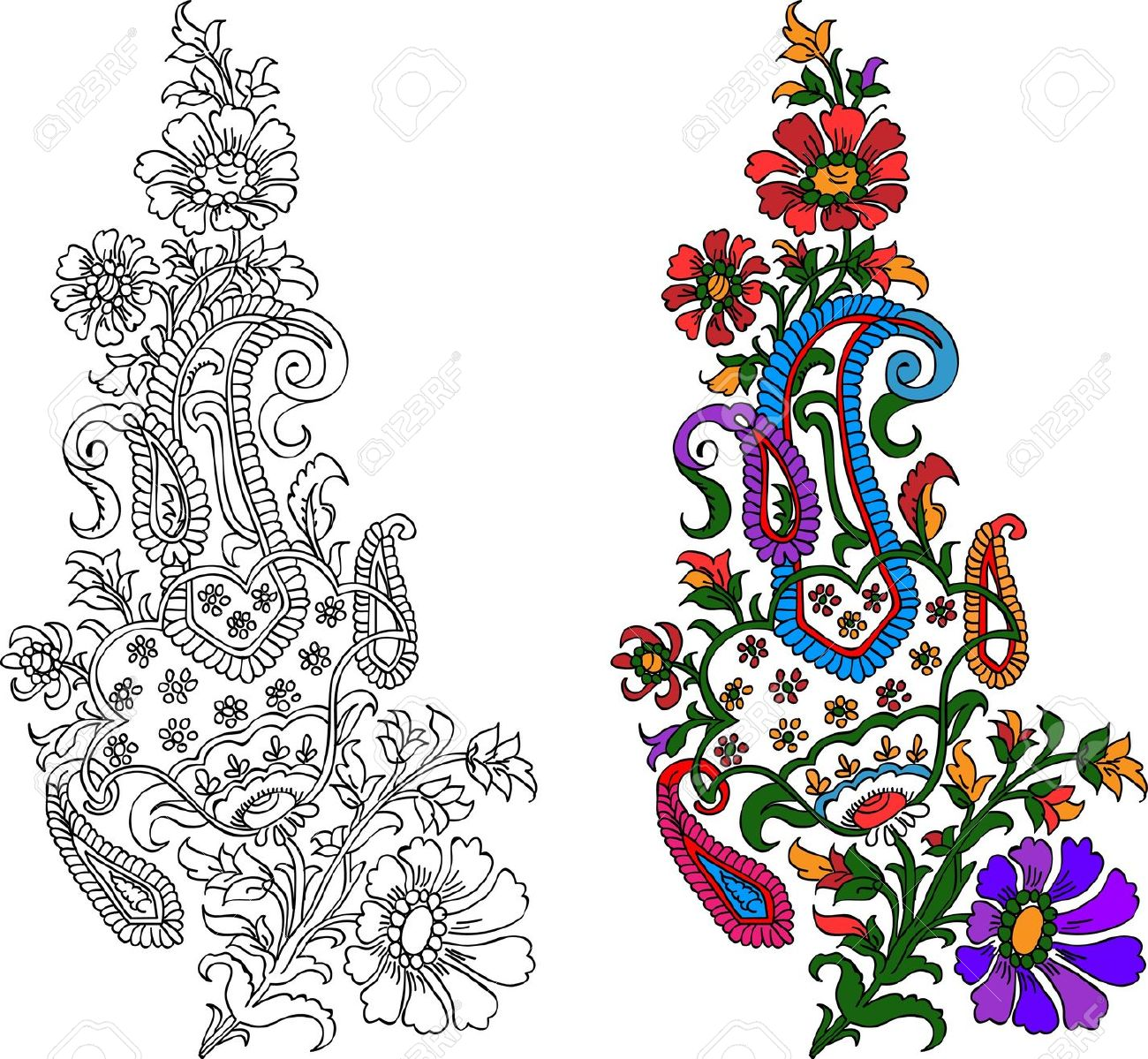 1300x1199 Indian Flower Clipart