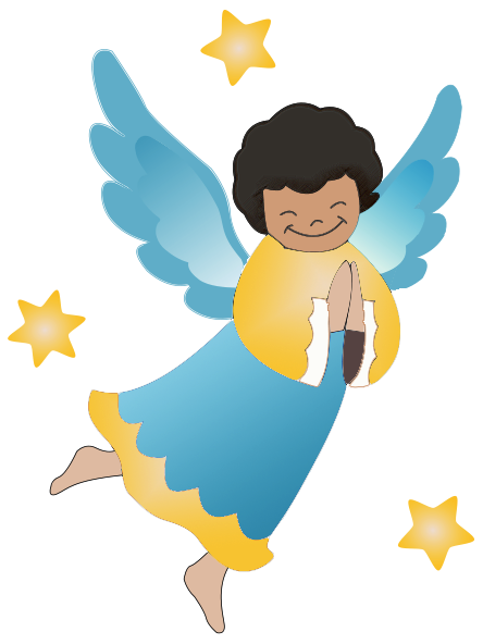 444x592 Angel Clipart Cartoon Angel