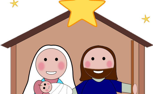 650x400 Clip Art Jesus' Birth Day Clipart