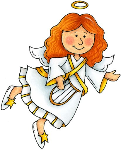 413x512 Nativity Scene With Angel Overhead Clipart