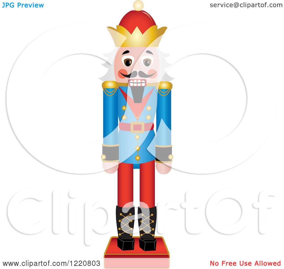 1080x1024 Clipart Of A Wooden Christmas Nutcracker With White Hair
