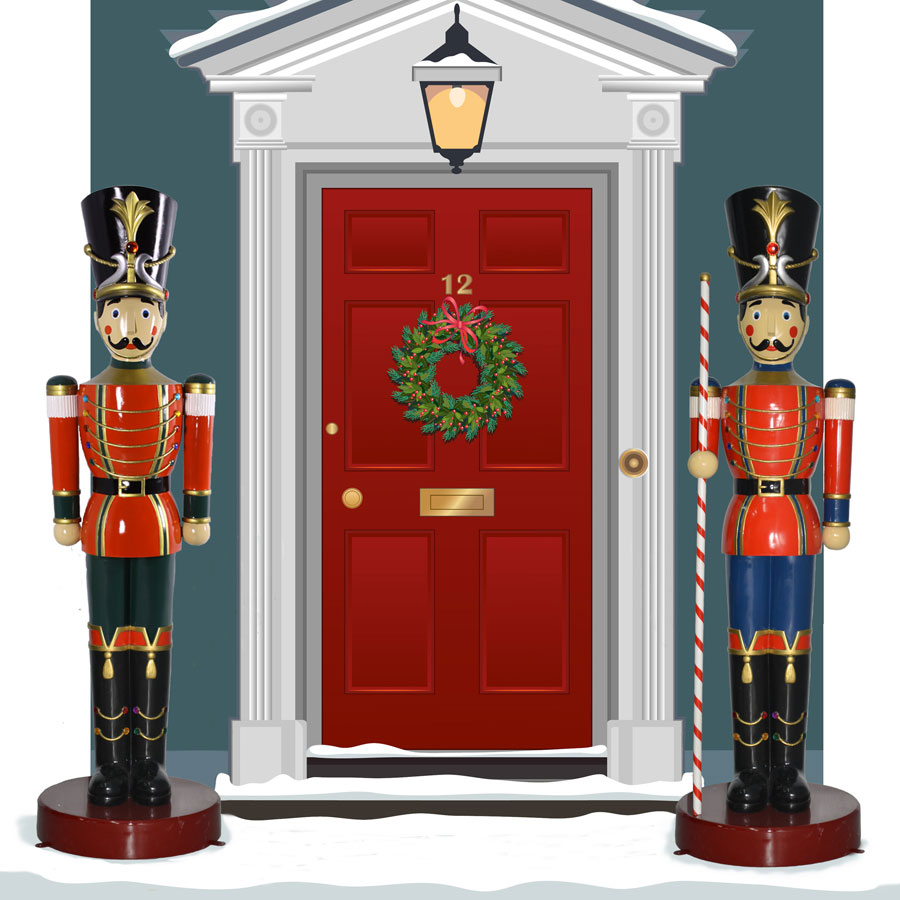 900x900 Homey Outdoor Christmas Toy Soldiers Awesome Large Image