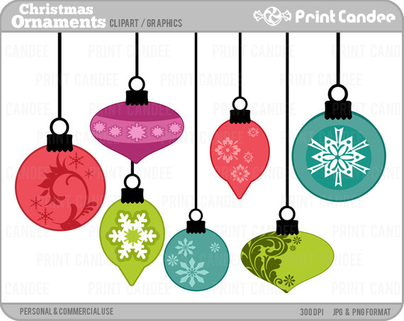 570x453 70% Off Sale Christmas Ornaments Digital Clip Art
