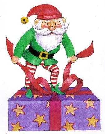 338x430 Christmas Elf Clip Art