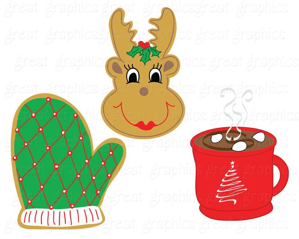 1000x800 Christmas Cookie Clip Art Digital Clipart Printable Christmas