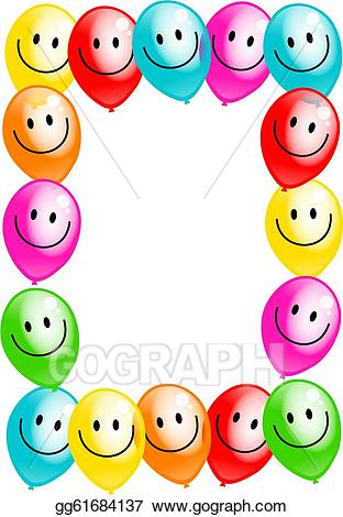 312x470 Pretentious Idea Party Border Clip Art Stock Illustration Birthday