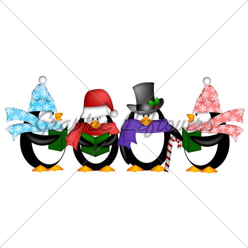 500x500 Christmas Penguin Clipart