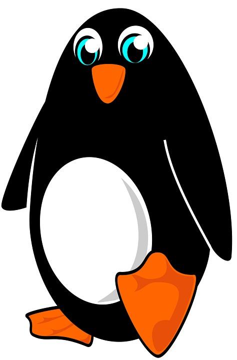 474x720 Christmas Penguin Clipart