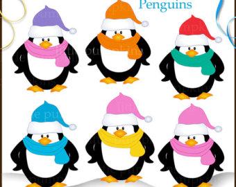 340x270 Free Christmas Penguin Clipart