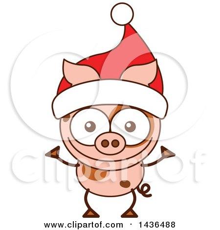 450x470 Royalty Free (Rf) Christmas Pig Clipart, Illustrations, Vector