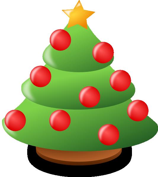 534x596 Small Christmas Tree Clipart
